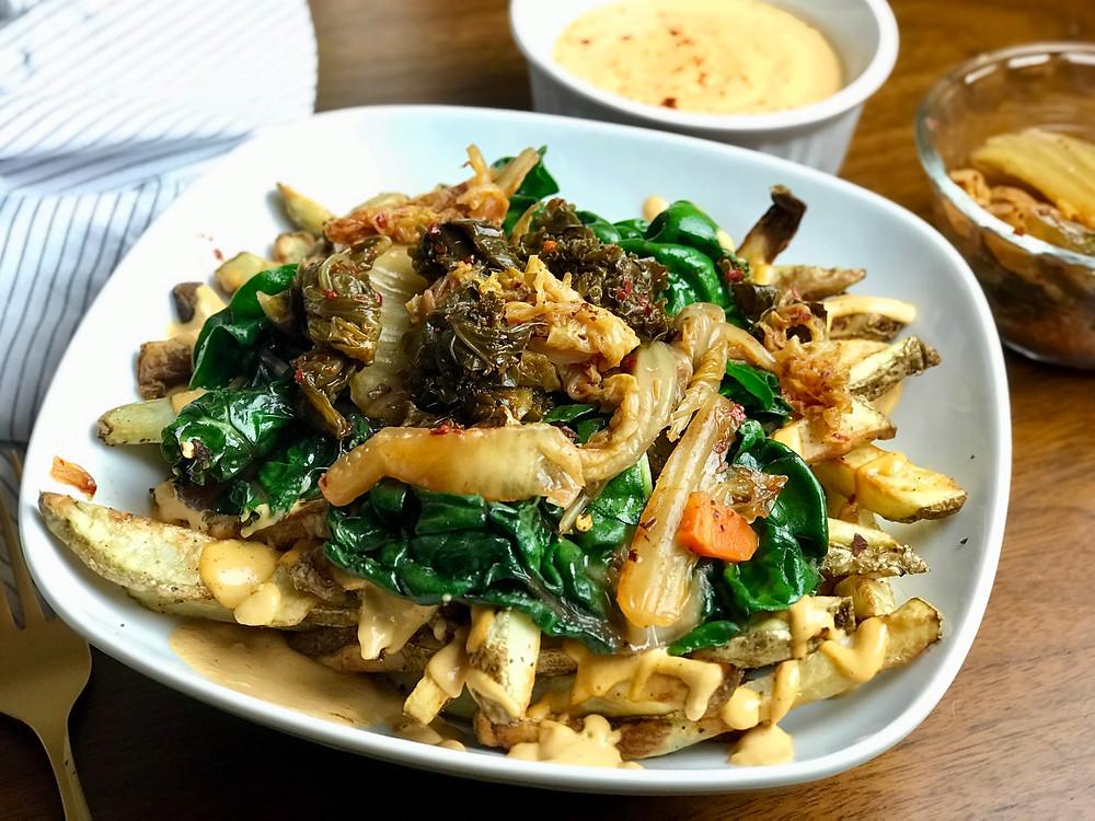 Air Fryer Kimchi Fries