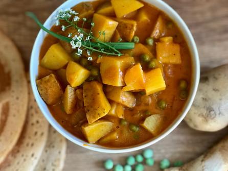 Vegan Potato and Pea Curry