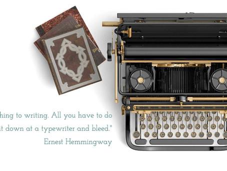 bleeding at the typewriter