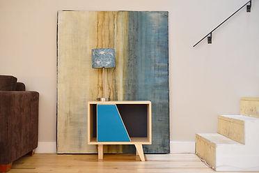 Petit meuble pour disquesvinyle    Design: Sylvain André-Jacques Ébénisterie