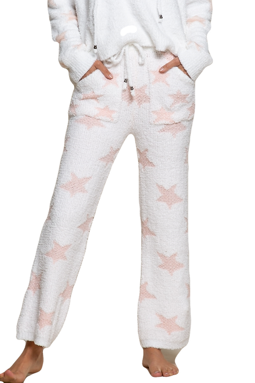 Berber Pink and White Star Pants