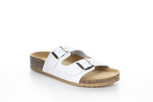 White Prim Leather Sandal