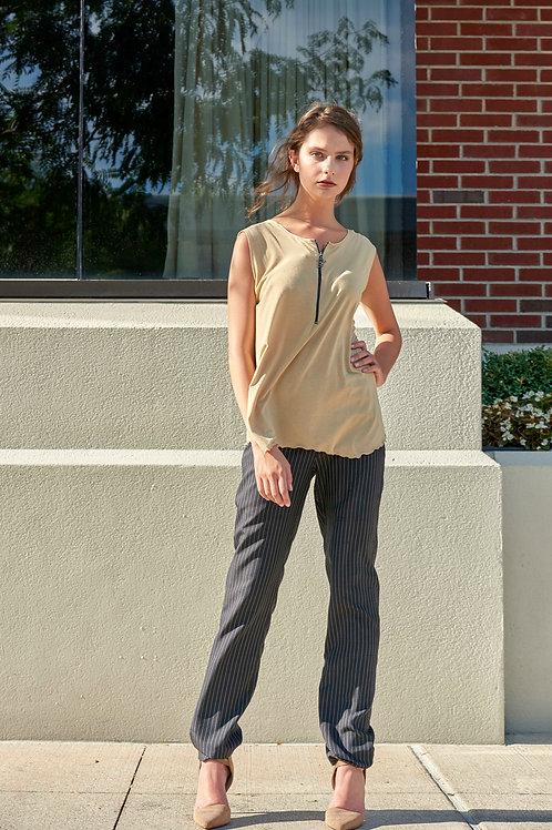 Silk Stripe Pants