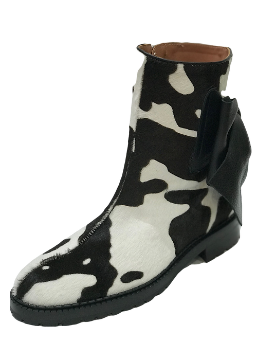 Ras Cowhide Bow Boots