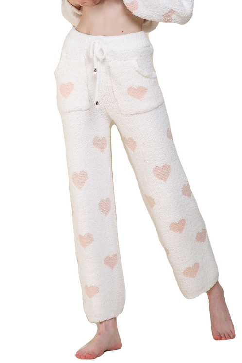 Berber Pink and White Heart Pants