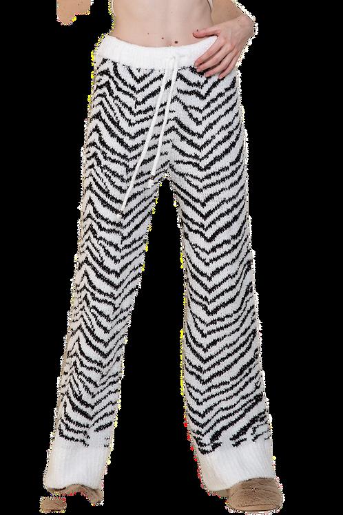 Black and White Zebra Berber Pants