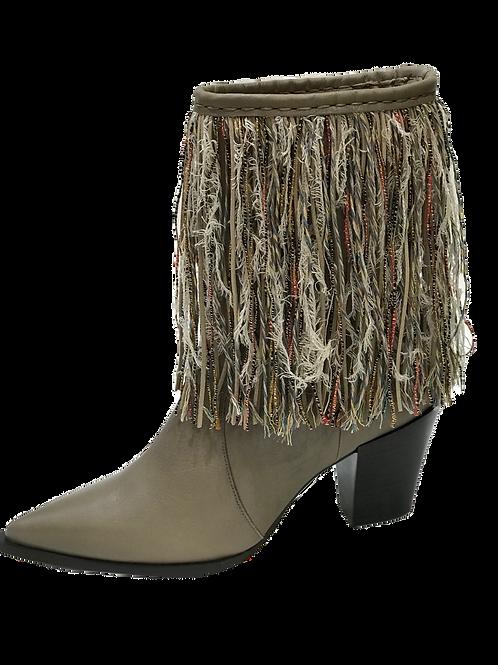 Ras Fringe Pointed toe Boot