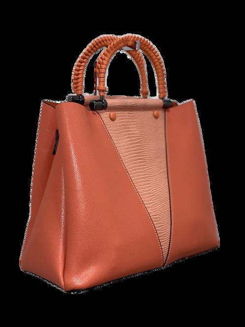 Coral Braided Bag