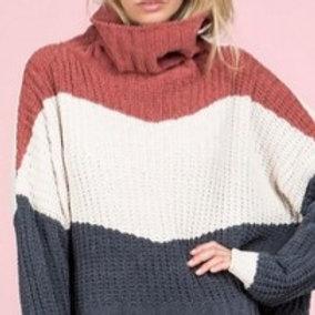 Color Block Boxy Sweater