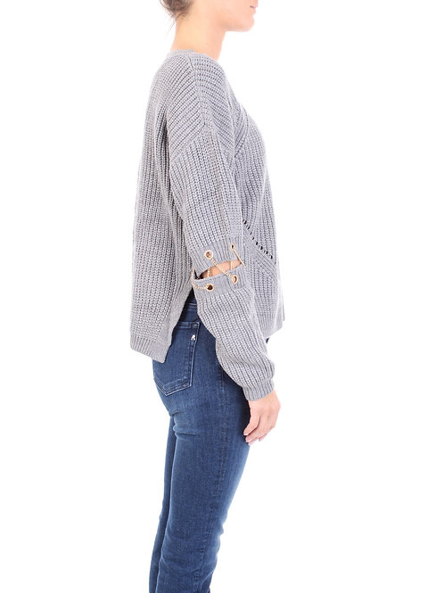 OPENWORK FRENCH KNIT SWEATER