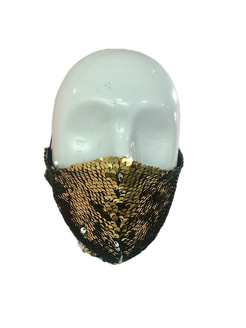 NONE Medical Gold to Silver Sequins Fashion Face mask