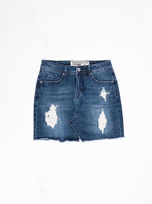 Dark Denim Mini Jean Skirt