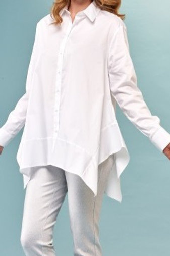 Insight White Button-Up Blouse