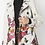 Thumbnail: Ultra Suede Floral and Butterfly Print Trench Car Coat