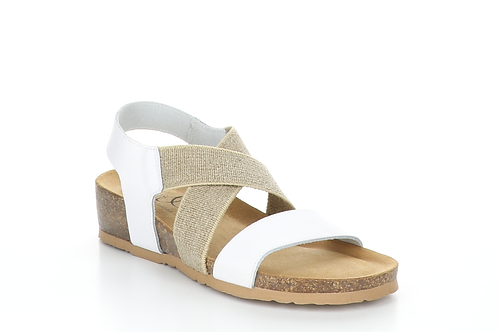 Lazo White Leather Sandal