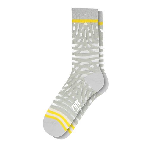 Fun Socks - Zebra Mesh with Glitter Cuff