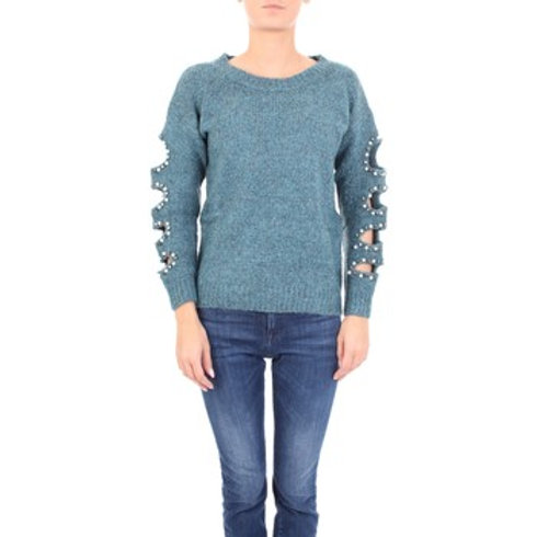 Cold Arm Pearls and Studs Sweater
