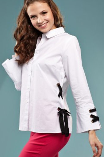 Insight Ribbon Accent Blouse