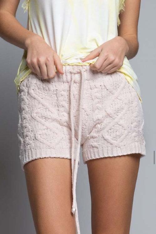 Berber Cable knit shorts
