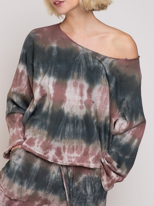 French Terry Top Tie Dye