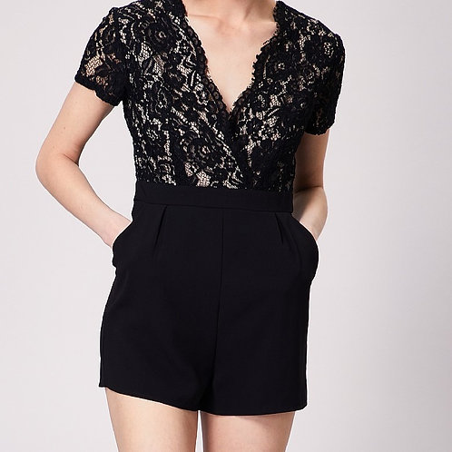Black and Lace Playsuit