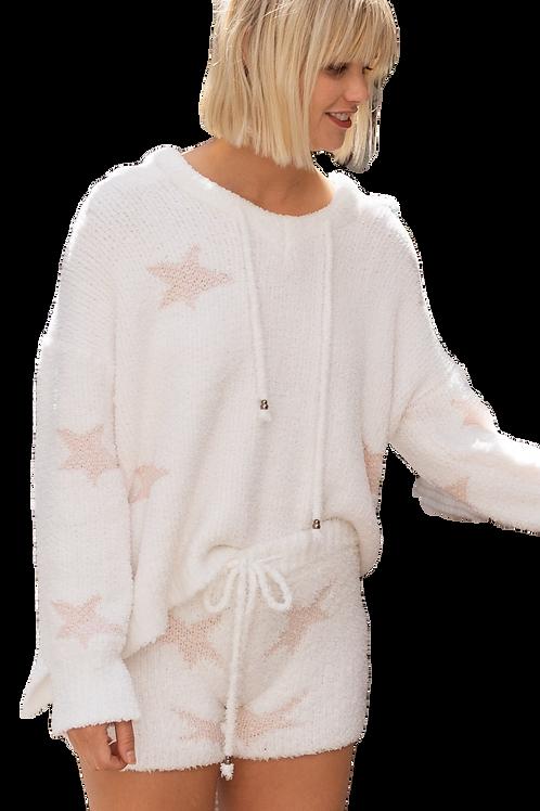 Berber Pink & White Star Hoodie