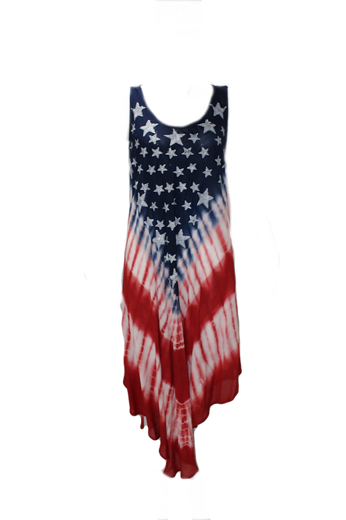 Hand Dyed Flag Tank Dress