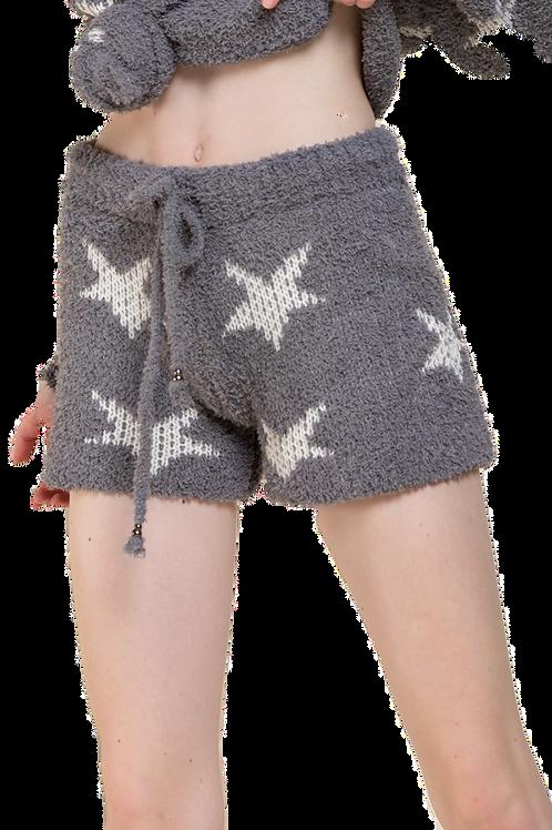Berber Grey & White  Star Shorts