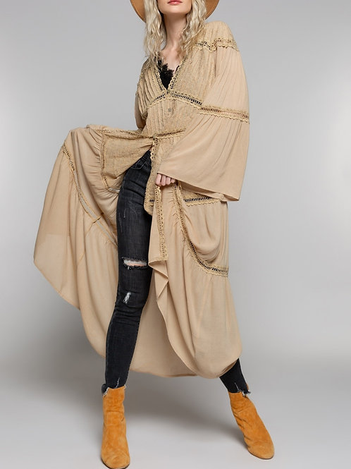 Toffee Summer Duster Cardigan