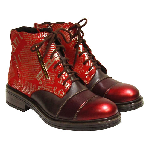 V Italia 4010 Halberry Red Boots