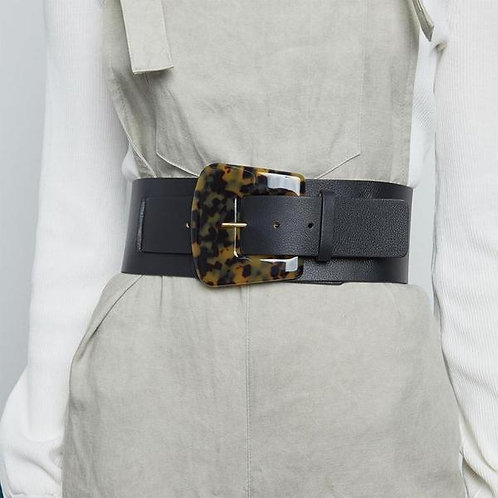 Waist Belt with Tortoise Shell Buckle
