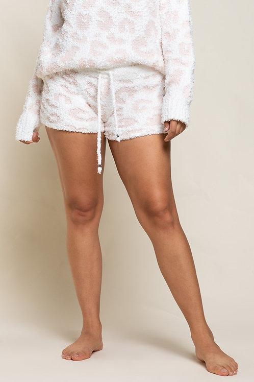Berber Pink & White Leopard Shorts