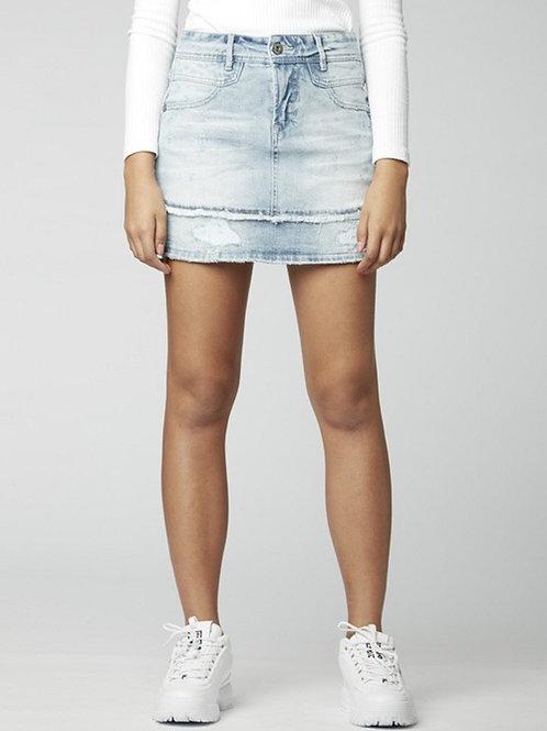Light Wash Denim Jean Skirt