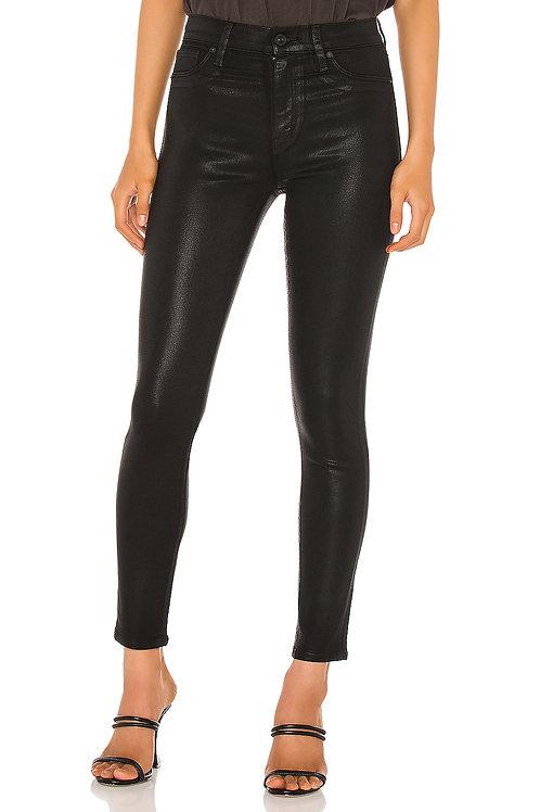 Hudson Jeans Barbara Ankle Super Skinny Coated Denim