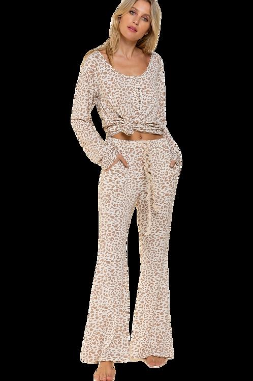 Leopard Jersey Lounge Pants