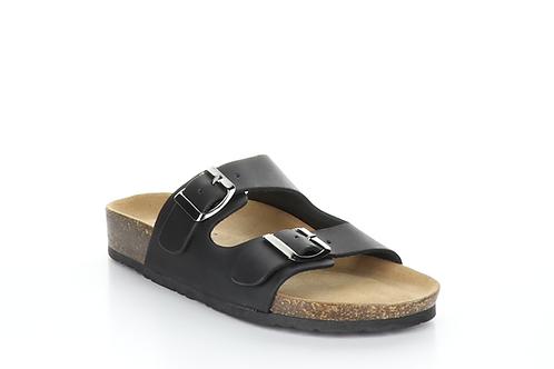 Prim Black Leather Sandals
