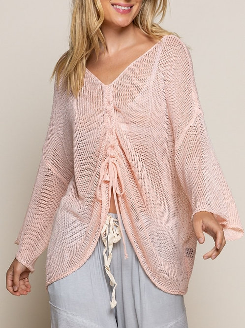 Blush Front String Top