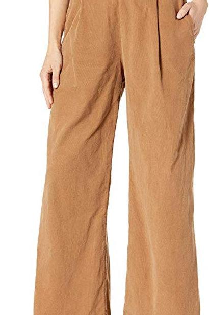 Woven Wide Leg Corduroy Pants