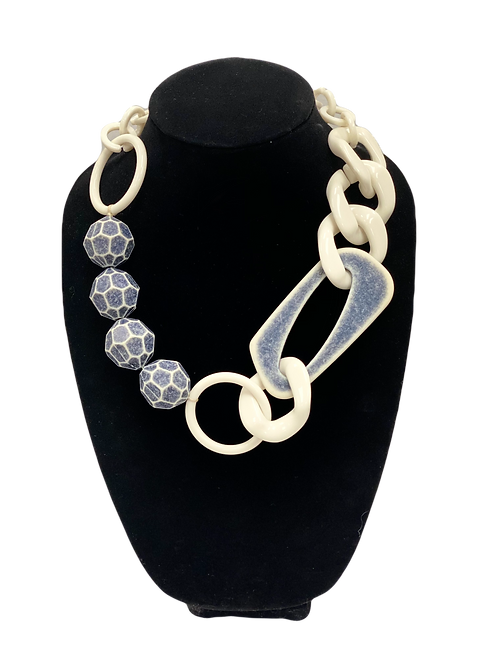 Blue & White Necklace