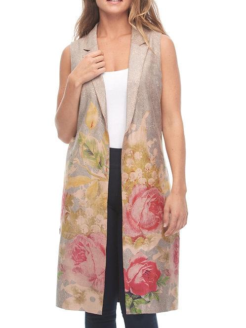 Long Floral Vest