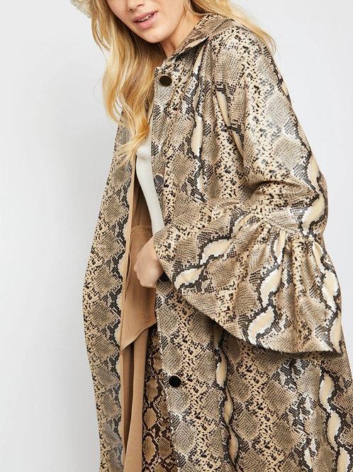 Animal Print Ultra Suede Coat