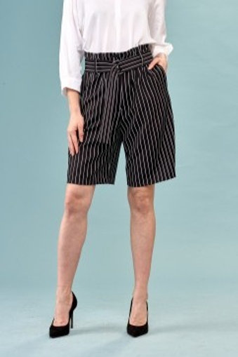 INSIGHT NYC Paper Bag Waist Long Line Shorts