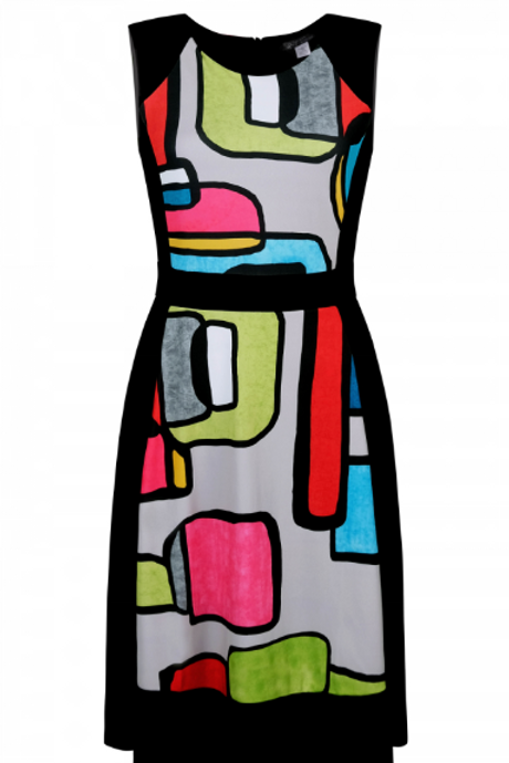 Vibrant Colorful Abstract Dress