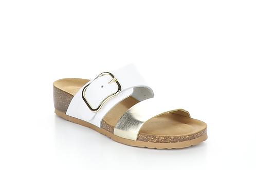 Lapo White and Gold Sandal