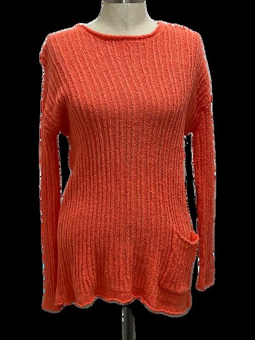 Orange Pocket Sweater