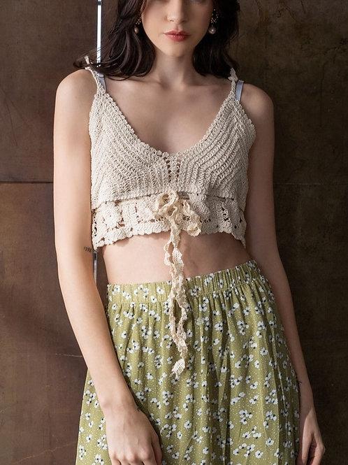 Crochet Beige Top