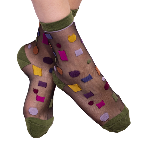 Fun Socks - Multi Shape Mesh Socks