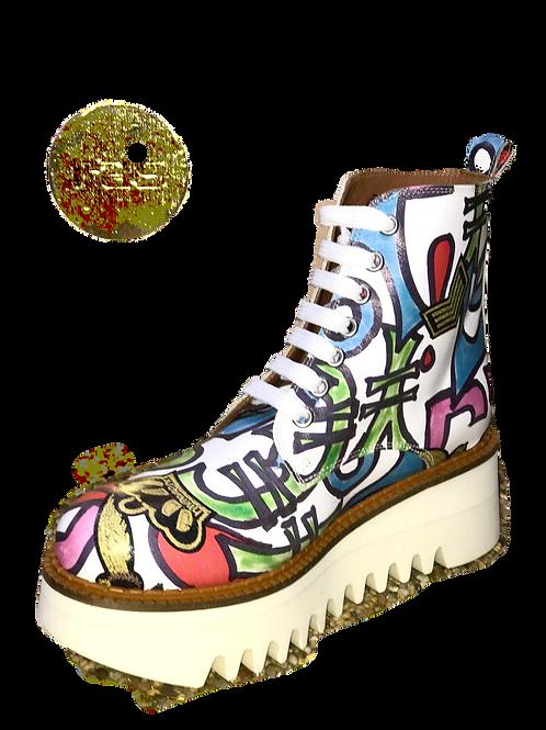Ras Grafitti Laceup Platform Boots