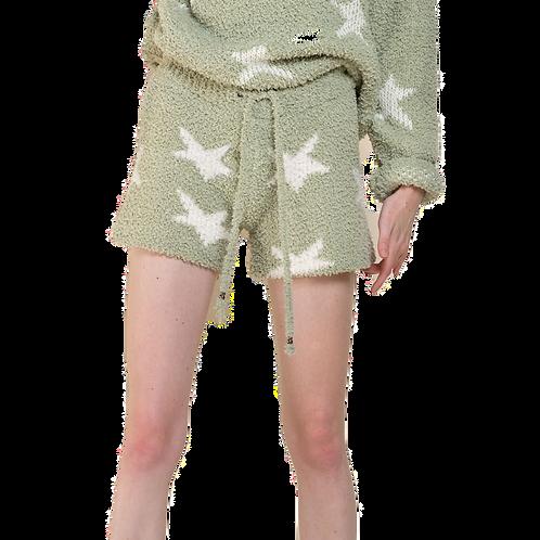 Berber Green & White Star  Shorts