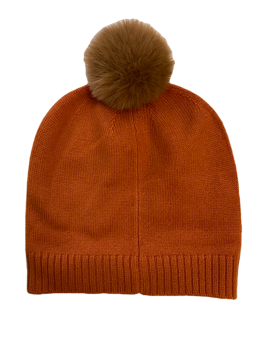 Orange Cashmere Beanie
